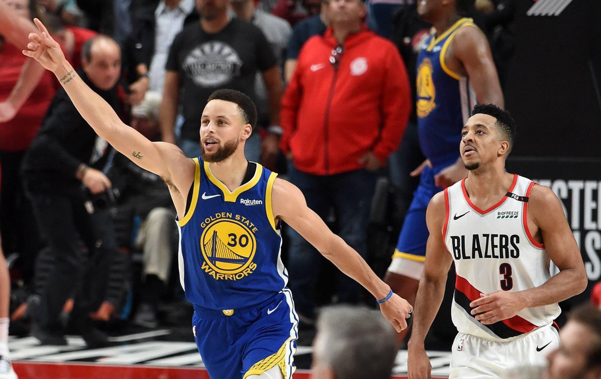 Golden State Warriors cierra en la prórroga ante Portland y alcanza su quinta final seguida